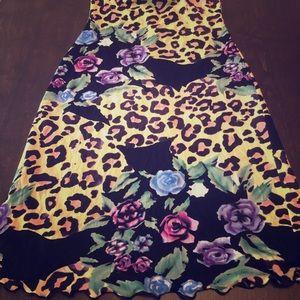 Guess Multi-print strapless dress